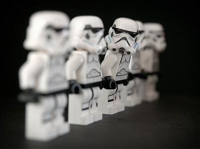 alignement de stormtrooper-lego