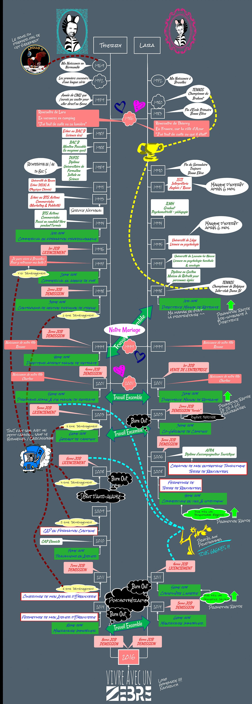 biographies diagramme d'un parcours de vie de deux zebres