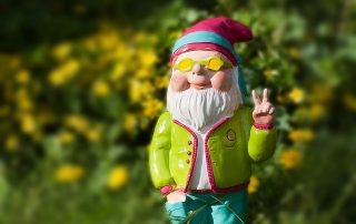 passions nain de jardin style hippie