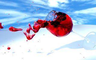 Verre à vin qui se renverse