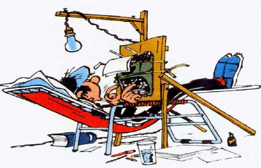 Gaston Lagaffe au bureau